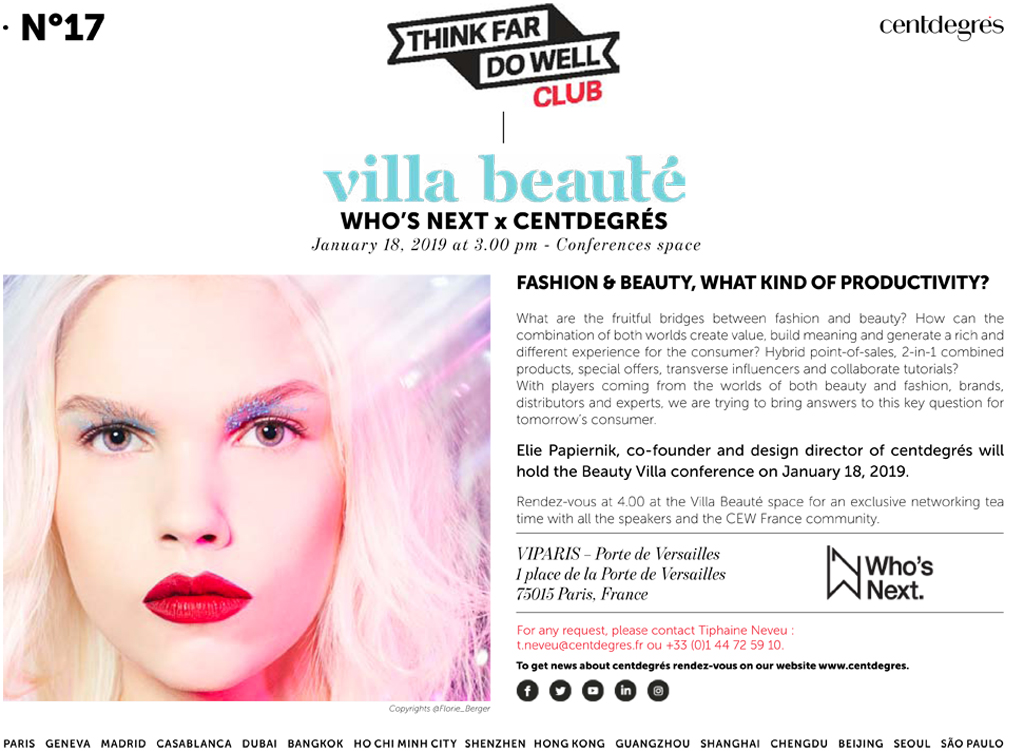 N°17: BEAUTY VILLA AT THE 2019 WHO'S NEXT